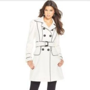 XOXO New Junior's Piped Belted Trench Coat